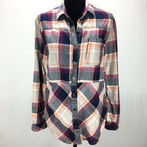 Anthropologie Holding Horses Plaid Flannel Tunic